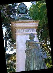 Statue Beethoven by Arnold Foerster, Los Angeles, USA...